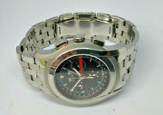 Mens 5500 Chrono Stainless Steel Chronograph Calender Watch Box And Papers