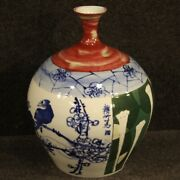 Chinese Vase Furniture Object Cup Antique Oriental Style In Painted Ceramic