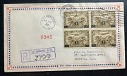 1932 Lethbridge Canada First Day Airmail Cover Fdc To Batavia Ny Usa