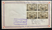 1932 Toronto Canada First Day Airmail Cover Fdc To Batavia Ny Usa Scc3