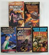 David Weber Book Lot Of 5 • Mutineer's Moon, In Death Ground, Flag In Exile +
