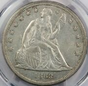 1863 Liberty Seated Silver Dollar Pcg Au Details Really Nice