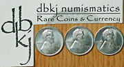 Lot Of 3 - 1943 P D S - Lincoln Steel Wheat 1¢ Cents Penny - Choice Uncirculated
