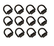 12 Weld On D-rings For Trailer Flatbed Truck Towing Tie Down Chain Cargo