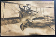 Mint Italy Picture Postcard Ppc Pursuit Of An Enemy Aircraft