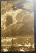Mint Germany Picture Postcard Ppc German Taube Over Paris France