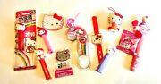 Hello Kitty - Watches, Fan, Pez Dispensers, Stickers, Figure And More - 10 Pc Lot