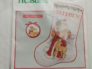 1991 Needle Treasures Father Christmas Stocking Counted Cross Stitch Kit 02848