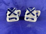 Vintage Windmill Salt And Pepper Shakers.made In Occupied Japan Beautiful D377