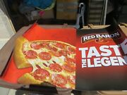 Genuine Red Baron Pizza Huge Advertising Display Magnet Sign - 38 By 26