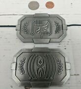 Fantasy Sci-fi Credit Bar - Antique Silver Finish- Larp, Game Role Playing, Rpg