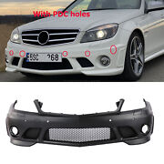 For Mercedes Benz W204 Front Bumper W/ Pdc 2008-10 C Class C63 Amg Style