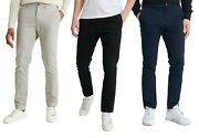Superdry Chino - Superdry Edit Slim Fit Chino - Black Navy Grey And Brown - Bnwt