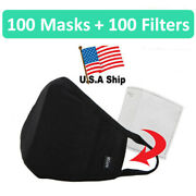 Wholesale 100 Pack 100 Cotton Face Mask With Filter Pocket Filter Included
