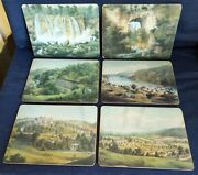 Set Of 8 Cork Backed Place Mats Old Dominion Illustrations By Edward Beyer