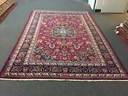 On Sale Mashadd Hand Knotted Vintage Area Rug Traditional Carpet 6and03910x10and03951883