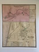 Pleasant Valley And Hyde Park Dutchess County Ny 1867 Lithograph By F.w. Beers