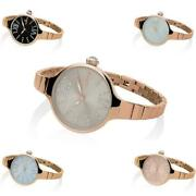 Womens Wristwatch Hoops Cherie Midi Stones 2570lc-gd Steel Gold Rose