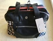 Lululemon Sweat And Go Bag Duffel Tote Eogn/blk Rare