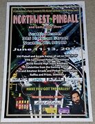 Northwest Pinball And Gameroom Show Poster Seattle Center Classic Arcade Gaming
