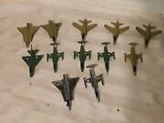 Vintage Lot Of 12 Plastic Planes For Toy Soldiers Mpc Timmee Marx