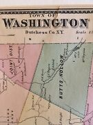 Town Of Washington, Dutchess County, Ny 1867 Lithograph By F.w. Beers