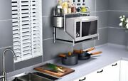 Microwave Oven Shelf Wall Mounted Kitchen Stainless Steel 2 Tier Storage Rack