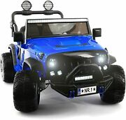 Kids Ride On Wild Jeep Battery Powered Car 12 Volt Children Electric Toy Blue