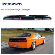 Led Tail Lights For Dodge Challenger 08-14 W/ Red Lens Sequential Turn Signal