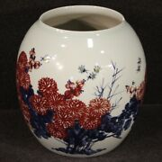 Chinese Oriental Vase Antique Style Furniture Object Cup In Painted Ceramic