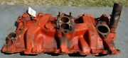 Oem 1956 - 1957 Gm 4 Chevy Intake Manifold, 3732690, 265 And 283 Cu Engine, 2bbl
