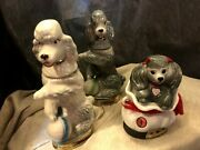 Jim Beam Vintage 1970and039s Poodle Set Whiskey Decanters Collectibles Incl. Penny