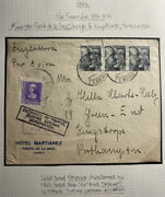 1940 Tenerife Spain Detained In France German Ocup Cover To Kingstorpe England