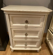 Simply Shabby Chic Dresser Nightstand And Stand Up Mirror 3 Pcs White P/u Only