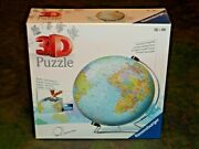The Earth - 3d 540 Piece Ravensburger Puzzle New 12436 Globe