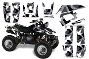 Atv Graphics Kit Decal For Yamaha Warrior 350 All Years Special Forces Silver