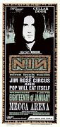 Mint And Signed Nine Inch Nails 1995 Mecca Arena Milwaukee Arminski Poster