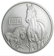 2014 Tokelau 1 Oz .0999 Silver Year Of The Horse 5 Coin Roll Of 20 Coins 20 Oz