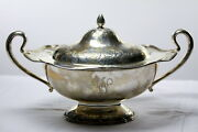 Antique Sterling Silver Covered Compote Shreve And Co San Francisco 2 Handle
