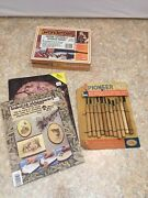 Wonderpen Atf Nib W-111 W/ 2 Wood Burning Books And Pioneer 12 Pc. Wood Carving St