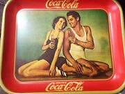 1974 Reproduction Of A 1934 Coca Cola Tray Maureen Oand039sullivan Johnny Weismuller
