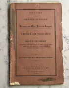 Antique Baltimore And Ohio Railroad Book Report Of The Committee Of Finance 1865