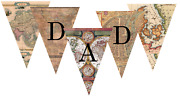 Fathers Day Bunting Mini Pegs Football Golf Travel Dad Or Daddy Shop Display