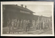 Wwi Real Picture Postcard Rppc Czech Legion The First Czech Station