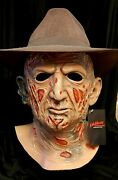 Trick Or Treat Studios Nightmare On Elm Street Deluxe Freddy Latex Mask With Hat