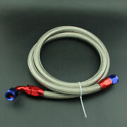 An10 Red Stainless Steel Nylon Braided Fuel Line Oil Gas Hose+swivel Fitting