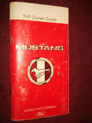 1981 Ford Mustang Ownerand039s Manual / Ownerand039s Guide / Nice Original
