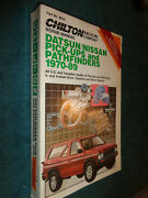 1970-1989 Nissan Datsun Truck And Path Finder Shop Manual / 87 86 85 84 83 82 Book