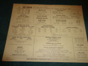 1967 Chevrolet Corvair 164 6 Cyl Engine Sun Tune-up Chart / Turbo Air / 95 H.p.