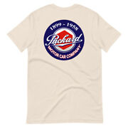 Packard Motor Car And Approved Service Front And Back Print Retro Unisex T-shirt